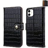【Amazon.co.jp 限定】Meister Craft iPhone 11 ケース おしゃれな手帳型 本革 (クロコダイル仕上) Qi対応 【NorthFaceやTimberlandも採用 ISA社最高級ドイツハードレザー使用】 ブラック ギフト箱入 MC21