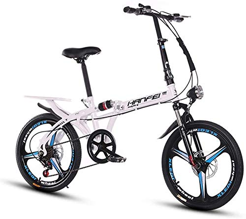 Syxfckc Frenos 25 lbs Bicicletas, Marco de Aluminio luz Plegables, Shimano Verdadero...