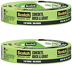 3M Scotch Masking Tape for Hard-to-Stick Surfaces, 2060-24A, 1-Inch by 60-Yards, 1 Roll - 2060-1A, Green (2 Pack) …