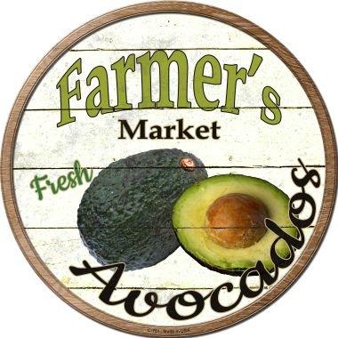 Smart Blonde Farmers Market Avocados Novelty Metal Circular Sign C-761