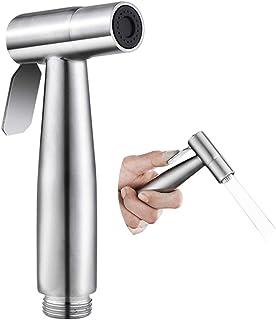 Handheld Bidet Sprayer for Toilet, SOOSI Baby Cloth Diaper Sprayer Bidet for Toilet Stainless Steel Brushed Nickel Bathroo...