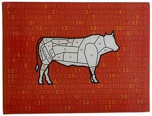 Tabua De Vidro Carnes Euro Decorado