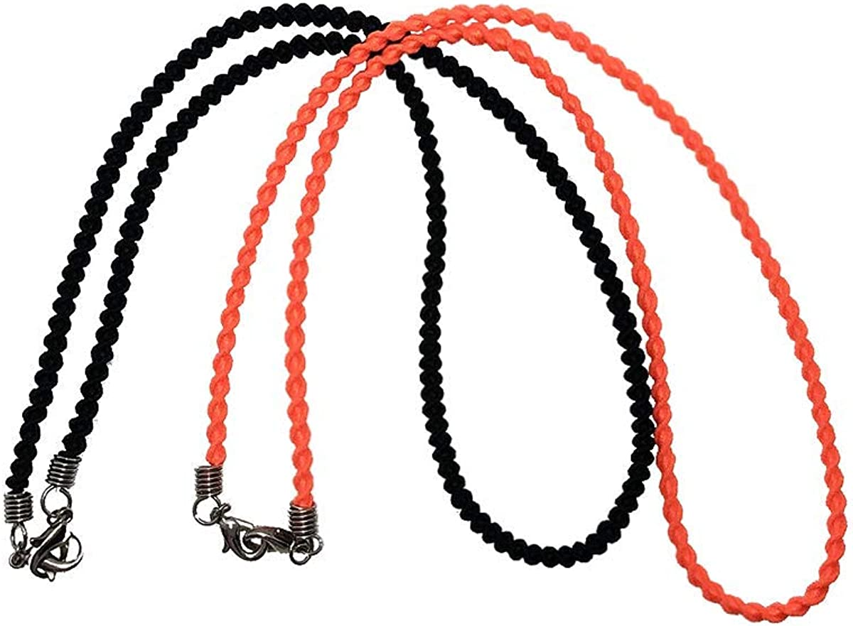 MERCER Fashion Mask Lanyards 2pc Pack - Comfortable Elastic Twist Strings, Multi-color Options
