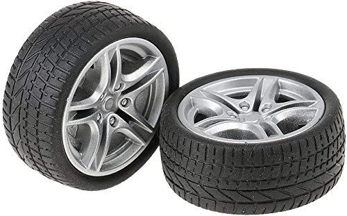 Yeaser 48 mm Gummiräder, Reifen, Auto, LKW, Modell, Spielzeug, Räder für LKW/Busse, 2 Stück