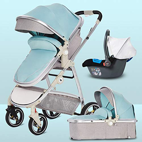 Fantastic Deal! HELIn Baby Carriage - Foldable Pram Carriage Anti-Shock Pushchair with Aluminum Fram...