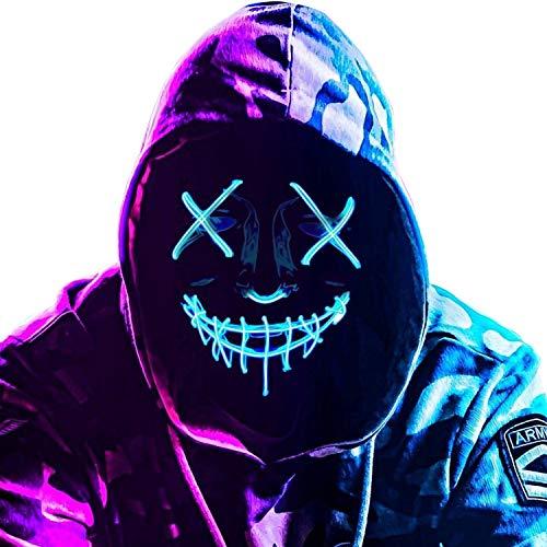 Original Cup   LED-Licht Maske The Purge – Die Säuberung   Premium Qualität   Feste Kunststoff   3 Blinkmuster   Neon Maske   Halloween