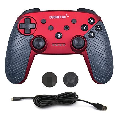Switch Pro Wireless Controller für Nintendo Switch - Joy Bluetooth PC Ultimate Gamepad-Fernbedienung mit Gyro-Achse (Rot)