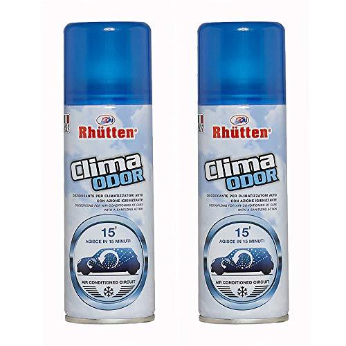 2x175ml Clima Odor| Spray Auto Climatizzatore| Autosvuotante in 15 minuti| Neutralizza i Cattivi Odori, per Condizionatori, Tessuti, Sedili Auto e Veicoli