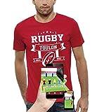 PIXEL EVOLUTION T-Shirt 3D Rugby Toulon en Réalité Augmentée Homme - Taille XXL - Rouge