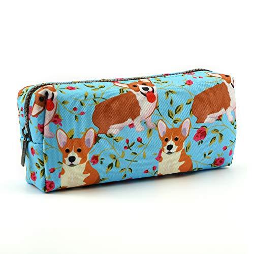 LParkin Cute Corgi Pencil Case Pouch Teacher Gift Gadget Bag Make Up Case Cosmetic Bag stationary kawaii pencil box