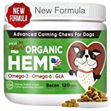 ✅ 【Premium HELPS DOG CALM AND RELAXED】Hallo Paw's Advanced Dog Calming treats combine Chamomile,Passion Flower,Valerian Root,L-Tryphophan AND Ginger Root. To relaxing and composure effect for dogs exhibiting nervousness and hyperactivity. ✅ 【Premium ...
