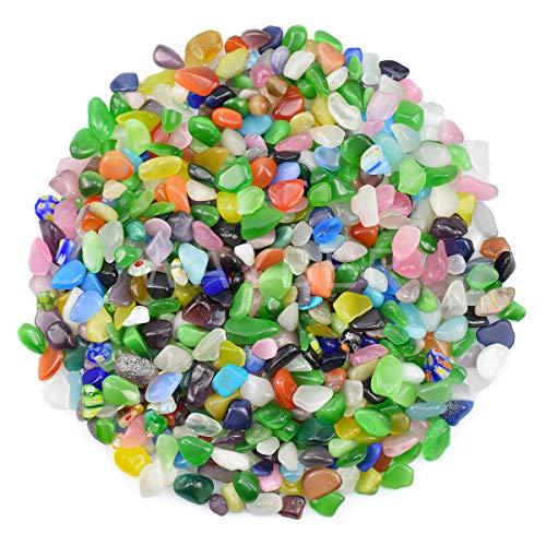 WAYBER 1 Lb/460g Irregular Decorative Pebbles Crystal Quartz Stones Rock Sand