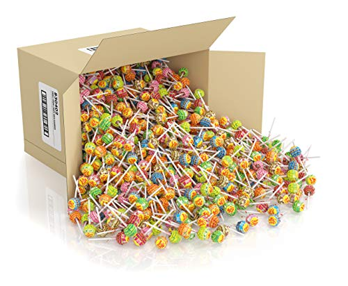 Chupa Chups Mini Lollipops 1000 Bulk Candy Suckers for Kids Variety Pack for Gifting Parties Office 1000 Count