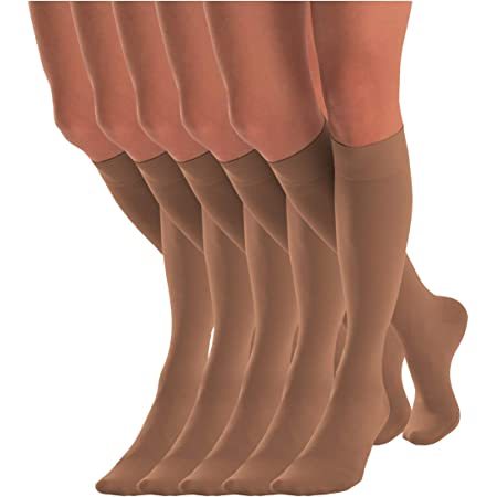 Tanned Knee High Pop socks opaque fashion foot feet School Girl 70 Denier 3 Pair