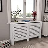 Canditree White Radiator Cover, Heating Cover Cabinet MDF 60'x7.5'x32'