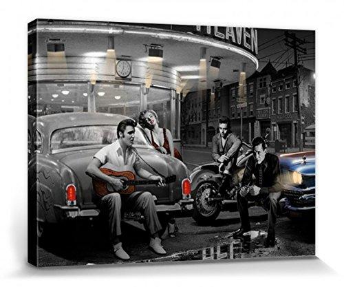1art1 Chris Consani - Straße Der Legenden Bilder Leinwand-Bild Auf Keilrahmen | XXL-Wandbild Poster Kunstdruck Als Leinwandbild 80 x 60 cm