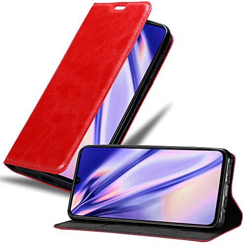 Cadorabo Funda Libro para Xiaomi Mi 9 en Rojo Manzana - Cubierta Proteccíon con Cierre Magnético, Tarjetero y Función de Suporte - Etui Case Cover Carcasa