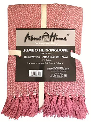 About Home Honey Comb - Copriletto in Cotone Bicolore, Cotone, Foglia di tè/Naturale, 250 x 228