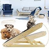 PaNt Rampa para Gatos/Perros de Madera de Alta Validad Resistente al Desgaste, Mascotas Rascador y Rampa para Mascotas 2 en 1 Escalera Plegable para Mascotas con Alfombrilla Antideslizante