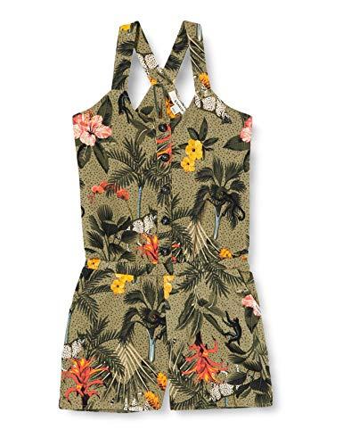 Garcia Kids Mädchen O02488 Overall, Mehrfarbig (Green Flower 1681), 152 (Herstellergröße: 152/158)