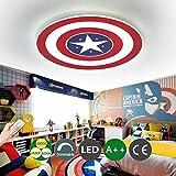 Captain America Deckenleuchte LED Creative Deckenleuchte Wandlampe Dimmbar mit Fernbedienung Metall...