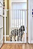 Callowesse® PET GATE – Extra hohes Tür- und Treppenschutzgitter für Haustiere und Kinder 75-82 cm x 110 cm – Druckmontage (Weiß)