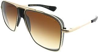 4dd29d1f1f9 Dita Initiator DT DTS11 58-02 Gold Black Iron Matte Black Plastic Aviator Sunglasses  Dark
