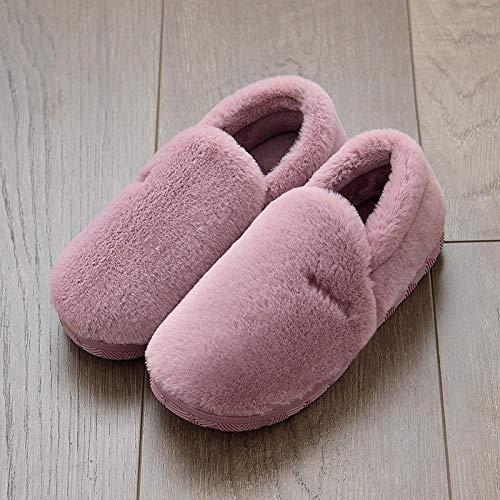 Nikai Slipper Memory Foam Pluche Verwarming, Mannen en vrouwen tas met indoor zachte dikke bodem warm plus fluwelen dikke huis non-slip,Gift voor vrouwen