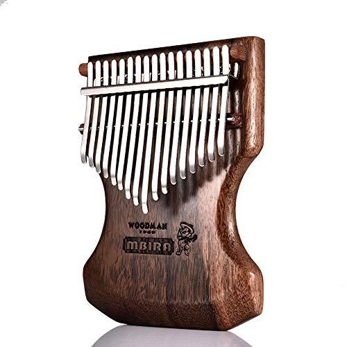 XSWY 17 Key Kalimba Calimba Mbira Solid Black Sandalwood Körper Kalimba Mbira Daumenklavier w/Soft-Tasche Beliebte Tastatur-Klavier-Instrument Einfach zu verwenden (Farbe : A)