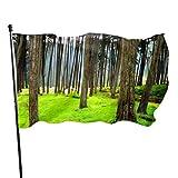 N/A American Guard Flag Banner Home Fahnen Wald Bäume Natur Landschaft Baum Vertikal Hof für Familie Terrasse College Dekoration 91 x 152 cm