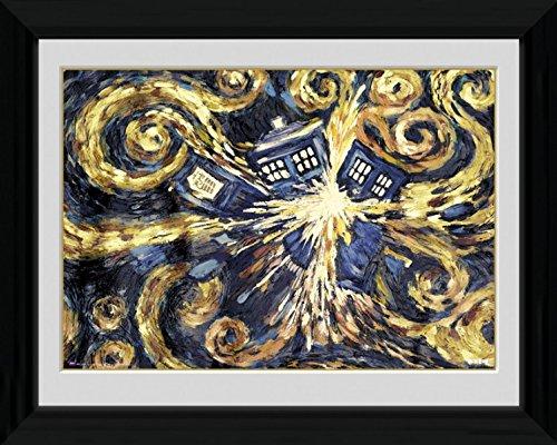1art1 Doctor Who - Exploding Tardis Gerahmtes Bild Mit Edlem Passepartout | Wand-Bilder | Kunstdruck Poster Im Bilderrahmen 40 x 30 cm