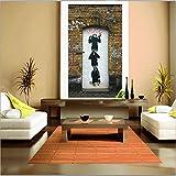 Resumen Street Art Canvas Painting Graffiti Chimpanzee Print on Canvas Poster Picture Wall Art Living Room A 70x100CM