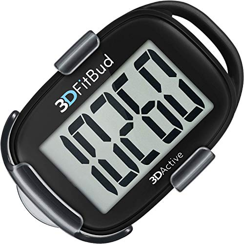 Sale!! 3DFitBud Simple Step Counter Walking 3D Pedometer with Clip and Lanyard, A420S
