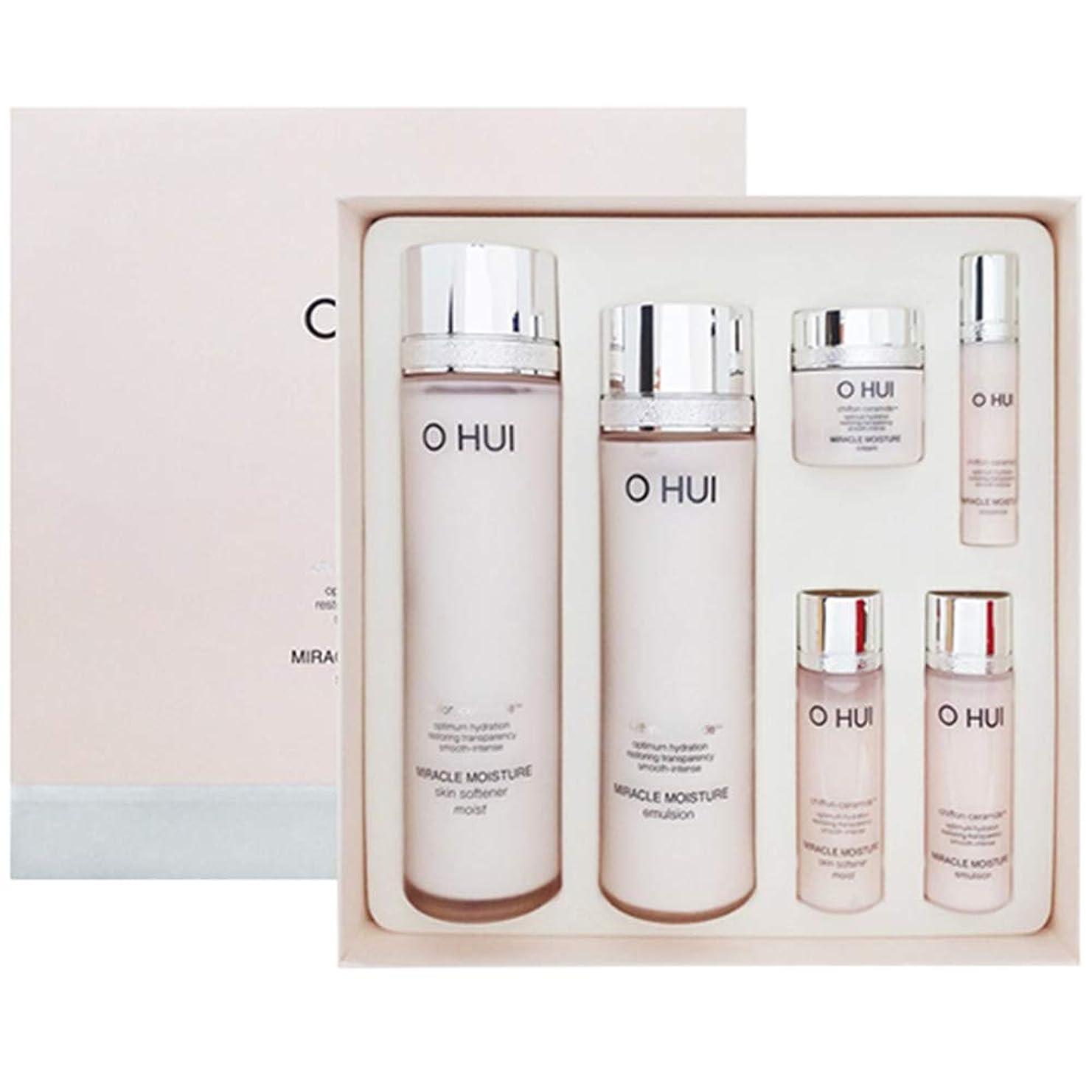 番目シェーバー内部(オフィ) O Hui Miracle Moisture 2 Type Set ミラクルモイスチャー2タイプセット Skin Softener 150ml+Emulsion 130ml + Gift [並行輸入品]