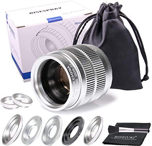 Amazon Com Silver Fujian 35mm F1 7 Cctv Movie Lens Cctv Lens For Sony Panasonic Fujifilm Olympus Canon Nikon Mirroeless Camera Camera Photo
