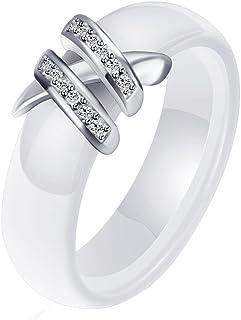 OAKKY 3MM Largeur Engagement Mariage Bande Bague Femme C/éramique