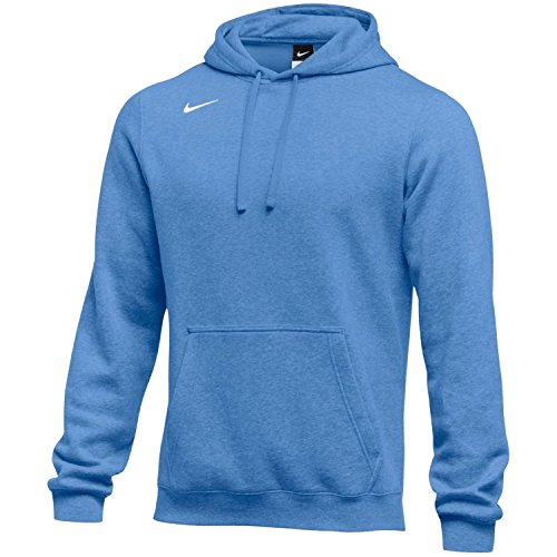 NIKE Mens Club Fleece Hoodie Columbia Blue Size XXL
