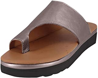 Susanny Slides for Women Plaform Wedge Sandals Low Heels Ring Toe Slippers Summer Cutout Shoes