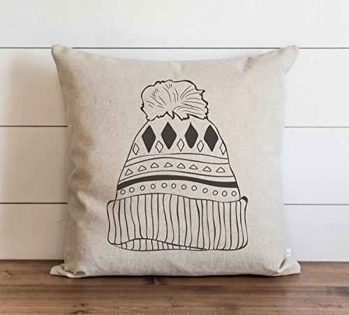 Funda de almohada para sombrero de Navidad para el día a día, funda de cojín con cierre de cremallera oculto, para sofá, banco, cama, decoración del hogar, 60,6 x 60,6 cm