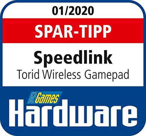 Speedlink TORID Gamepad - Kabelloser PC- und PS3-Controller - inkl. USB-Ladekabel für PC und Konsole - schwarz