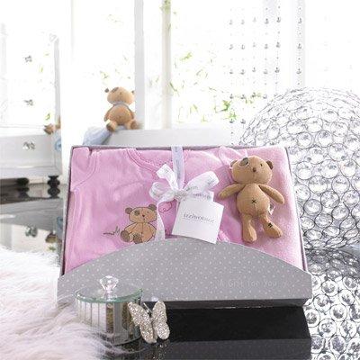 Izziwotnot - Coffret cadeau 3 pièces Cherish, édition de luxe, rose, 6 à 9 mois