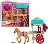 Mattel Spirit Untamed Miradero Riding Gear Cart with Rolling Wheels, Canopy, 5-in Pony & Related Accessories, Great Gift for Ages 3 & Up