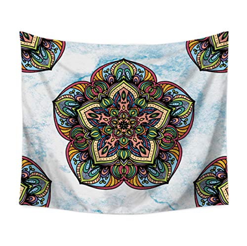 DitiaoBlanket Tapiz Mandala Negro Bohemia Gris Mármol Dorado Azul Playa Alfombra,Alfombra Dormitorio Colcha Arte Decoración Personalidad Regalo B