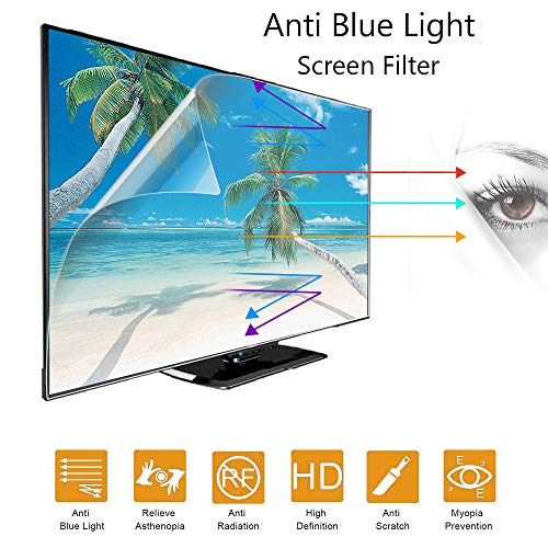 ZSLD 55 Inch Tv Monitor Screen Protector, Anti-Glare/Blue Light/Scratch Film, Block Harmful Blue-Ray and Protect Your Eyes, for LCD/LED/OLED HDTV(Frosted Film)