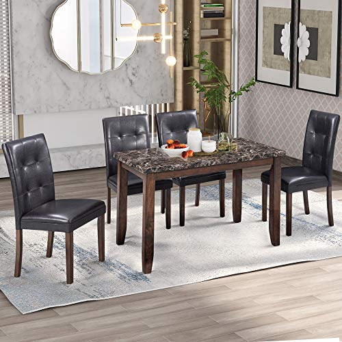 marble top kitchen table - 3