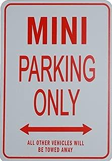 MINI PARKING ONLY - Miniature Fun Parking Sign