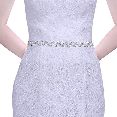 TOPQUEEN Cinturón brillante para vestido de noche, cinturón para vestido de novia,...