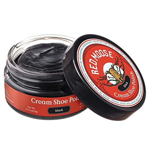 Red Moose Black Boot and Shoe Cream Polish - Made in the USA
