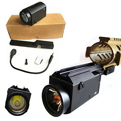 HWZ White LED Tactical Flashlight Light Come with Shown Mount