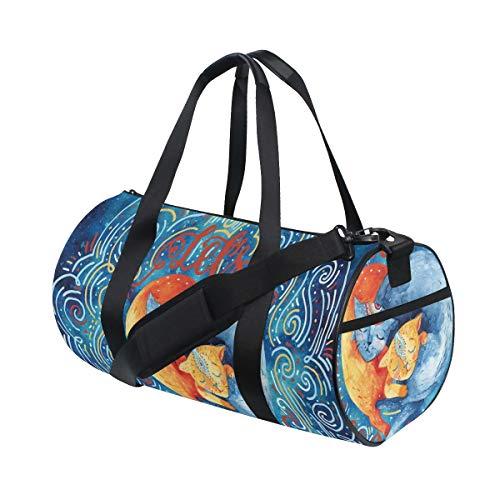 HARXISE Bolsa de Viaje,Fondo de ensueño con Palmera Tropical y Letras Aventura de Viaje de Verano,Bolsa de Deporte con Compartimento para Sports Gym Bag